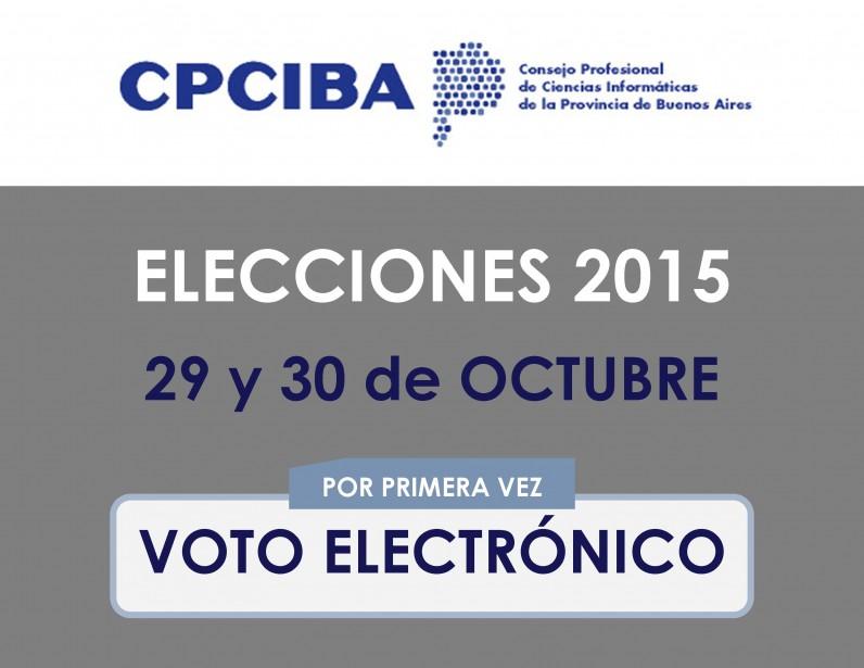 Elecciones CPCIBA 2015 | 29 y 30 de octubre | Voto Electrónico