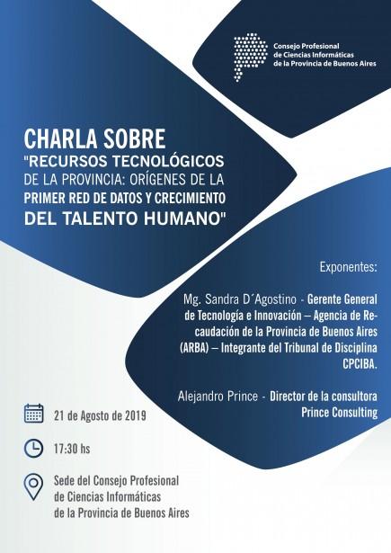 """En la sede de CPCIBA: Charla sobre """"Recursos Tecnológicos de la Provincia"""""""