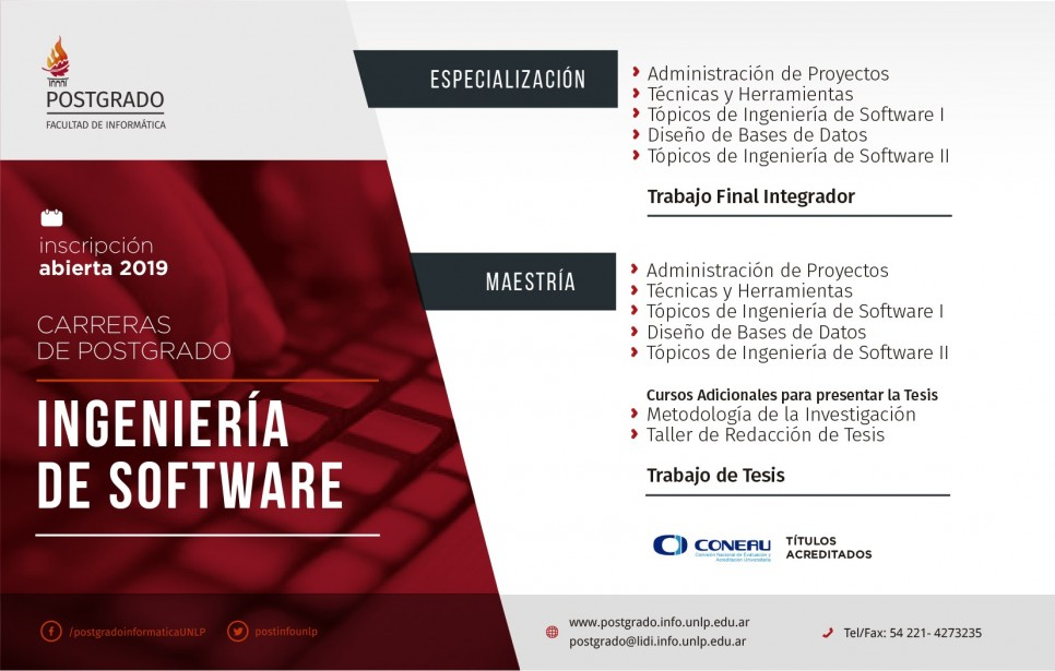 Carreras de postgrado: Ingeniería en Software