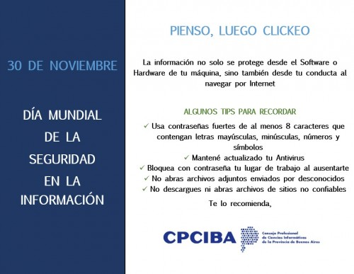 30 de noviembre: Día Mundial de la Seguridad en la Información