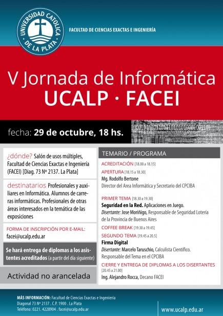 V Jornada de Informática UCALP - FACEI