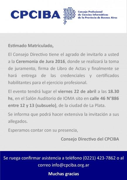 22/4 Acto de Jura 2016
