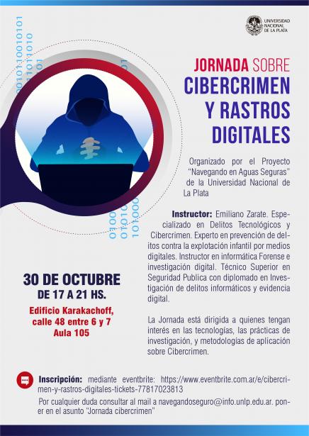 30 de octubre: Jornada sobre cibercrimen y rastros digitales